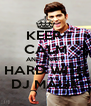 KEEP  CALM AND PARTY HARD WITH DJ MALIK - Personalised Poster A4 size