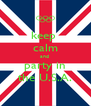 keep  calm and  party in the U.S.A. - Personalised Poster A4 size