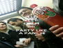 KEEP CALM AND PARTY LIKE  A PANCHI - Personalised Poster A4 size