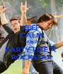 KEEP CALM AND PARTY LIKE A  ROCKSTAR - Personalised Poster A4 size
