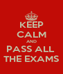 KEEP CALM AND PASS ALL  THE EXAMS - Personalised Poster A4 size