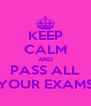 KEEP CALM AND PASS ALL YOUR EXAMS - Personalised Poster A4 size