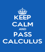 KEEP CALM AND PASS CALCULUS - Personalised Poster A4 size