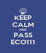KEEP CALM AND PASS ECO111 - Personalised Poster A4 size