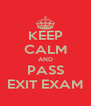 KEEP CALM AND PASS EXIT EXAM - Personalised Poster A4 size