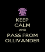 KEEP CALM AND PASS FROM OLLIVANDER - Personalised Poster A4 size