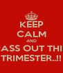 KEEP CALM AND PASS OUT THIS TRIMESTER..!! - Personalised Poster A4 size