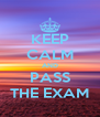 KEEP CALM AND PASS THE EXAM - Personalised Poster A4 size