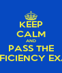 KEEP CALM AND PASS THE PROFICIENCY EXAMS - Personalised Poster A4 size