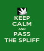 KEEP CALM AND PASS THE SPLIFF - Personalised Poster A4 size