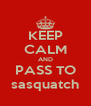 KEEP CALM AND PASS TO sasquatch - Personalised Poster A4 size