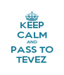 KEEP CALM AND PASS TO TEVEZ - Personalised Poster A4 size