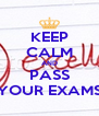KEEP CALM AND PASS YOUR EXAMS - Personalised Poster A4 size