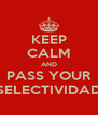 KEEP CALM AND PASS YOUR SELECTIVIDAD - Personalised Poster A4 size