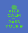 KEEP CALM AND PASS YOUR # - Personalised Poster A4 size