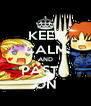 KEEP CALM AND PASTA ON - Personalised Poster A4 size
