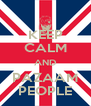 KEEP CALM AND PAZAAM PEOPLE - Personalised Poster A4 size