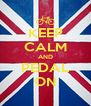 KEEP CALM AND PEDAL ON - Personalised Poster A4 size