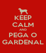 KEEP CALM AND PEGA O GARDENAL - Personalised Poster A4 size