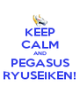 KEEP CALM AND PEGASUS RYUSEIKEN! - Personalised Poster A4 size