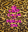 KEEP CALM AND PERUA ON - Personalised Poster A4 size