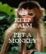 KEEP CALM AND PET A MONKEY - Personalised Poster A4 size
