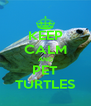 KEEP CALM AND PET TURTLES - Personalised Poster A4 size