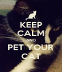 KEEP CALM AND PET YOUR CAT - Personalised Poster A4 size