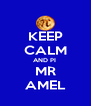 KEEP CALM AND PI  MR AMEL - Personalised Poster A4 size