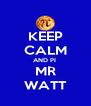 KEEP CALM AND PI  MR WATT - Personalised Poster A4 size