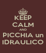 KEEP CALM AND PICCHIA un IDRAULICO - Personalised Poster A4 size