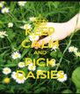 KEEP CALM AND PICK DAISIES - Personalised Poster A4 size