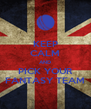KEEP CALM AND PICK YOUR FANTASY TEAM - Personalised Poster A4 size