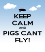 KEEP CALM AND PIGS CANT FLY! - Personalised Poster A4 size