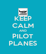 KEEP CALM AND PILOT PLANES - Personalised Poster A4 size