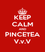 KEEP CALM AND PINCETEA V.v.V - Personalised Poster A4 size
