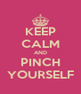 KEEP CALM AND PINCH YOURSELF - Personalised Poster A4 size