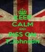 KEEP CALM AND PISS ON T.Johnson - Personalised Poster A4 size
