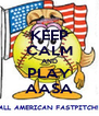 KEEP CALM AND PLAY AASA - Personalised Poster A4 size