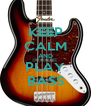 KEEP CALM AND PLAY BASS - Personalised Poster A4 size