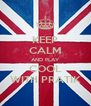 KEEP CALM AND PLAY COOL WITH PRATIK - Personalised Poster A4 size