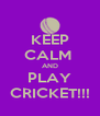 KEEP CALM  AND PLAY CRICKET!!! - Personalised Poster A4 size