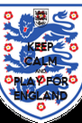 KEEP CALM AND PLAY FOR ENGLAND - Personalised Poster A4 size
