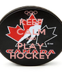KEEP CALM AND PLAY HOCKEY - Personalised Poster A4 size