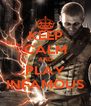 KEEP CALM AND PLAY INFAMOUS - Personalised Poster A4 size