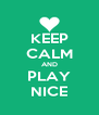 KEEP CALM AND PLAY NICE - Personalised Poster A4 size