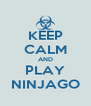 KEEP CALM AND PLAY NINJAGO - Personalised Poster A4 size