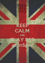 KEEP CALM AND PLAY PS3 at inSpot - Personalised Poster A4 size