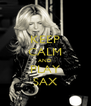 KEEP CALM AND PLAY SAX - Personalised Poster A4 size