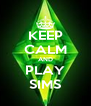 KEEP CALM AND PLAY SIMS - Personalised Poster A4 size